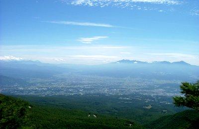 チェリーパークラインより富士八ヶ岳連峰を望む