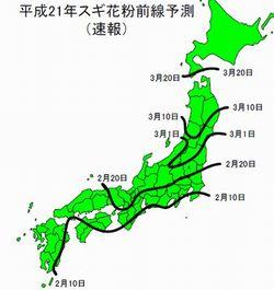 '09環境省花粉予測(速報)