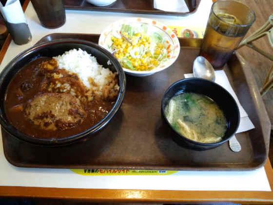 すき家東新潟店ハンバーグカレー120311