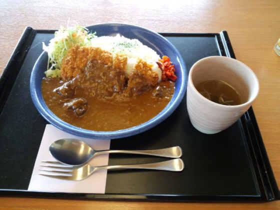 花水木温泉喜芳カツカレー120406