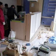 キッチンの組み立て0039