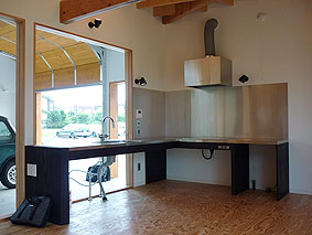 バリアフリー対応のキッチン