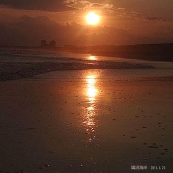 鵠沼海岸の夕陽