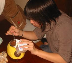チョコフォンデュ1