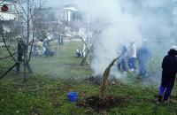 総合学習落ち葉焚きH201218