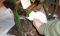 自宅でウドン製麺機で切るH210112