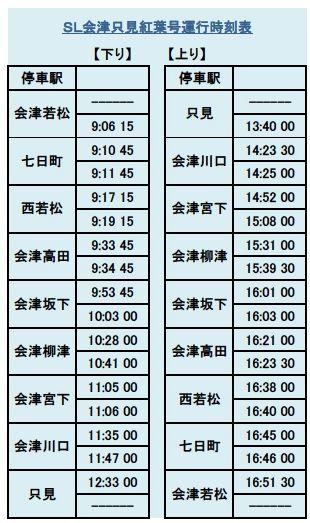 sl時刻表