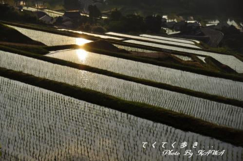 1湧水夕景