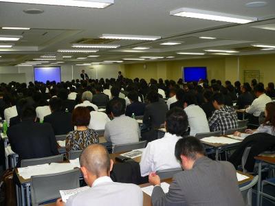 写真番号キャプション=11月16日に開催された「ぱちんこ情熱リーグ」のセミナーには、250人もの関係者が集まった