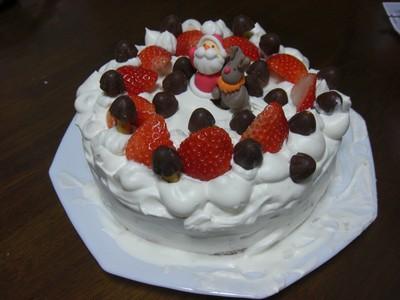 今年のクリスマスケーキはお手製