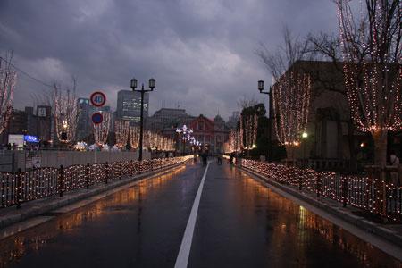 中央公会堂点灯の瞬間