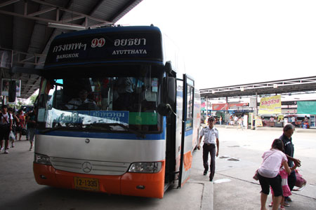 バンコクまでのエアコンバス
