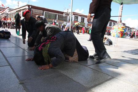 チベット人のお祈り