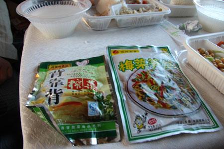 中国のお惣菜パック