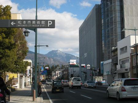 松本市内からの山並み