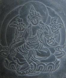 天女の石彫り