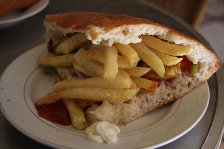 モロッコで食べたサンドイッチ