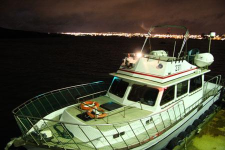 Videy島までの船