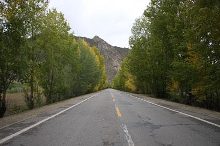 ヤムドク湖までの道