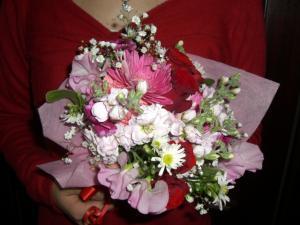 ティアラがもらった 花束