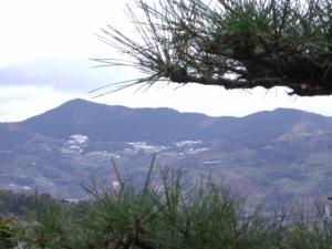 むこうのお山に雪が。。。