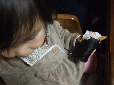 2009.2.3yunと恵方巻き