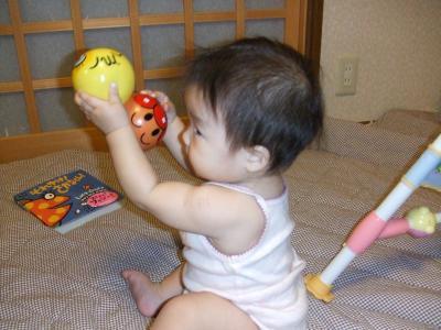 yun2008.7英語絵本とボール