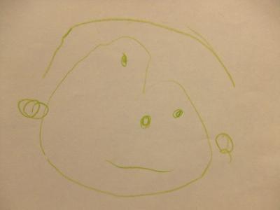 父の日似顔絵yun2歳半①