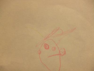 父の日似顔絵yun2歳半②自画像