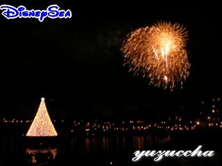 東京ディズニーシー クリスマスツリー&花火