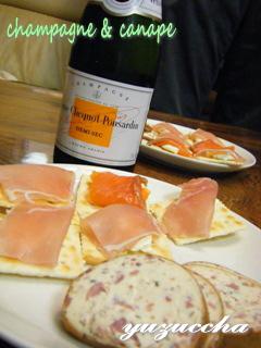 シャンパン&カナッペ