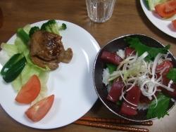 20090819じいじと料理
