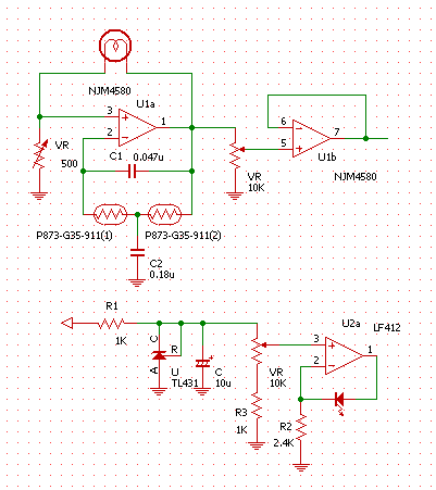 ブリッジドTフォトカプラランプ制御回路