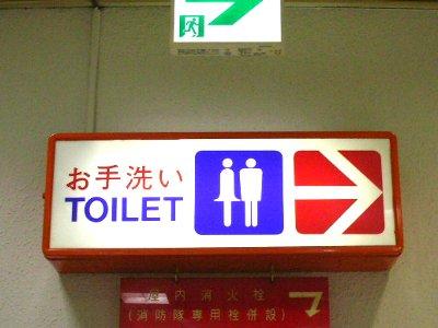 お手洗いのピクトさん