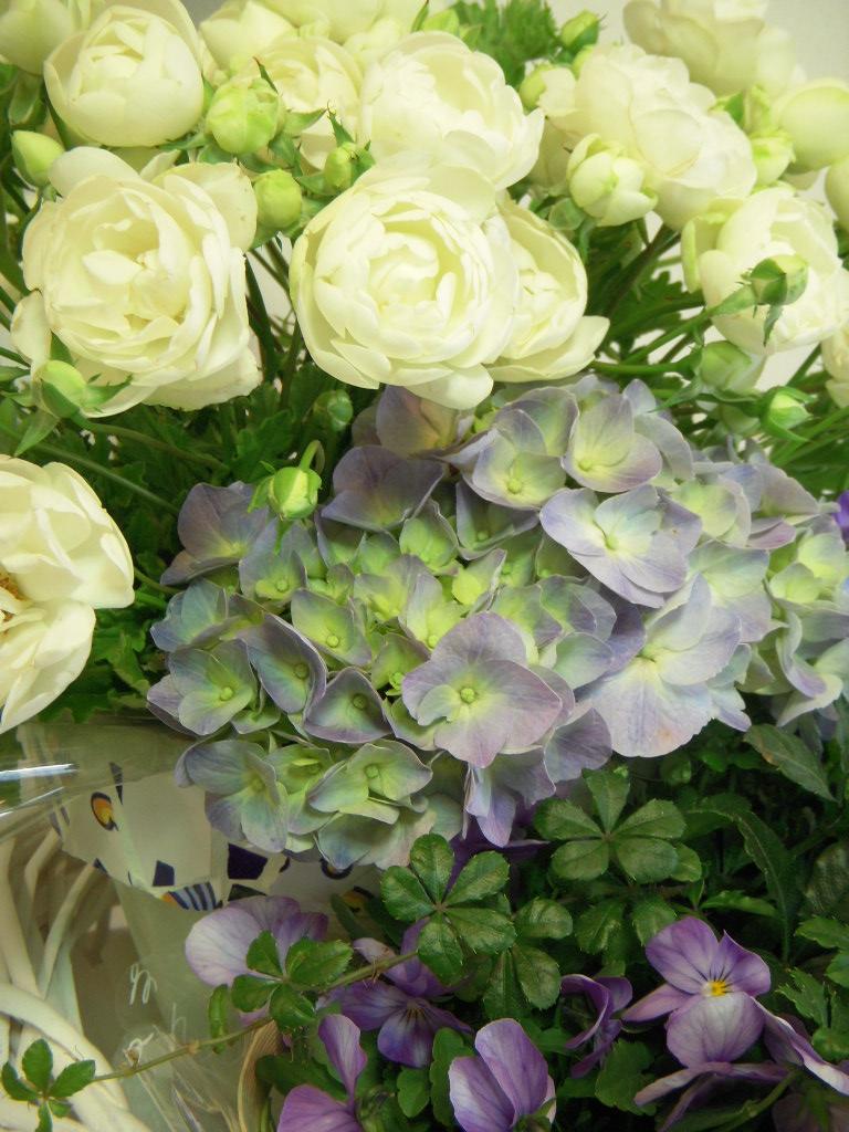 配達のお花♪