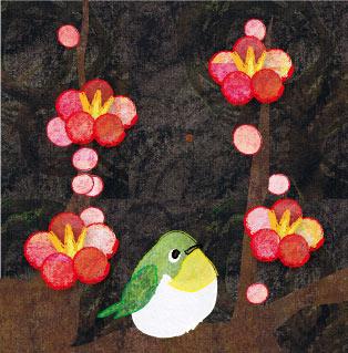 梅と鶯のイラスト
