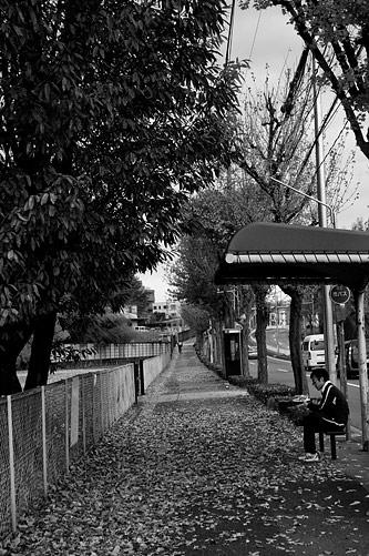 モノクロ街風景-7