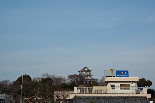 浜松城遠望