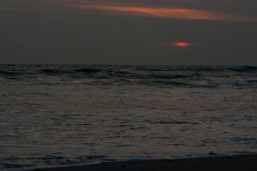 中田島砂丘夕陽