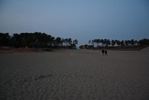 中田島砂丘夕暮れ
