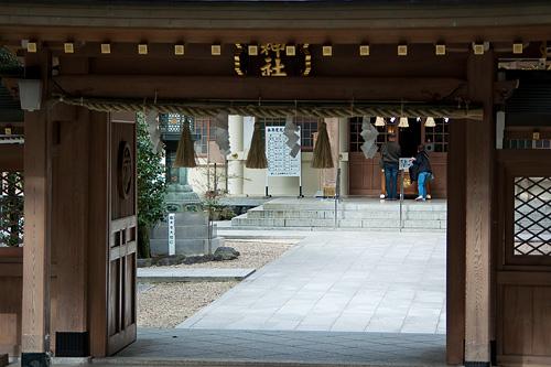 針名神社神門