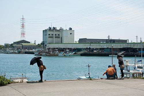大浜漁港の風景