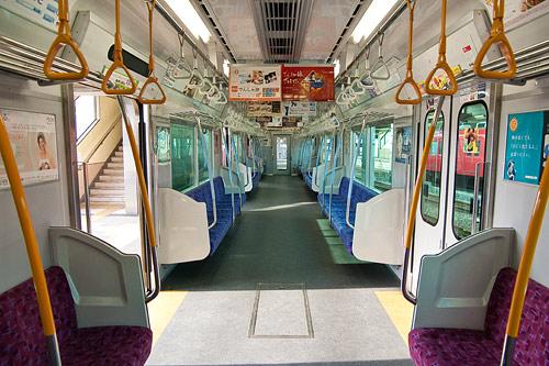名鉄列車内