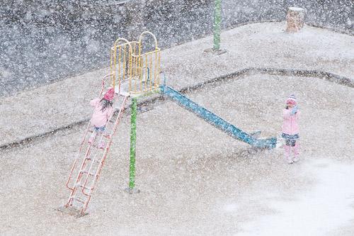 雪降り-7