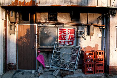 中華店の裏