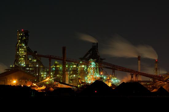 新日鉄住金の工場夜景