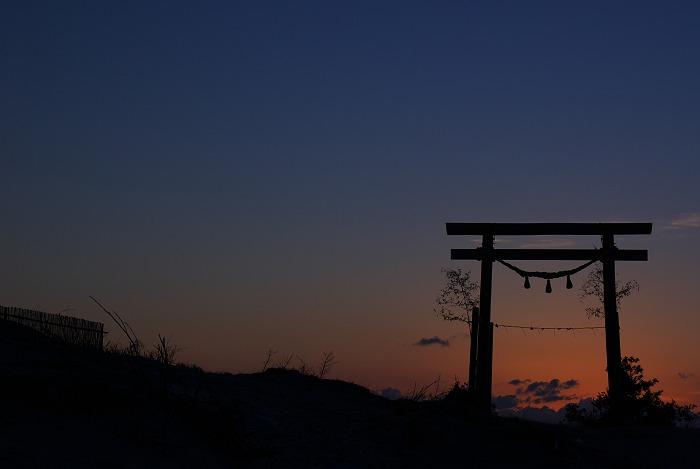 夜明けの鳥居