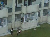 壁をよじ登って男子寮に忍び込む3人の女子大生の画像が話題らしい