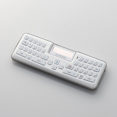 ELECOM コンパクトBluetoothキーボード 通話・リモコン対応 ホワイト TK-MBD041WH