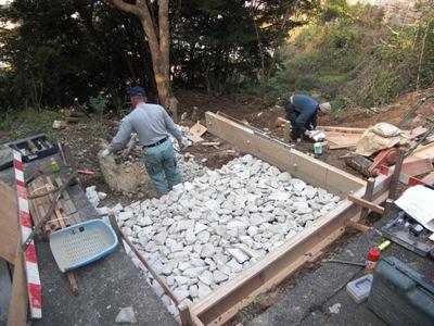 墓地基礎工事